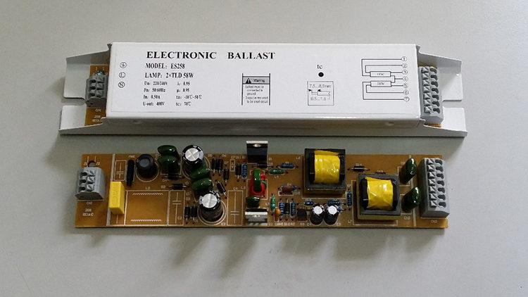 подключение через электронный балласт