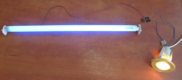 как подключить лампу дневного света без дросселя