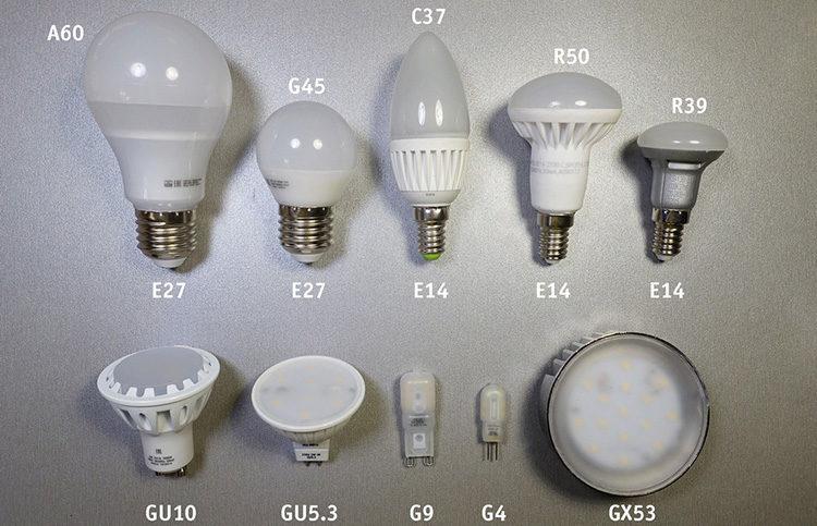 виды осветителей