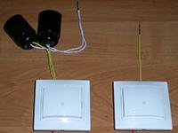 параллельно соединенные лампы с проходным выключателем
