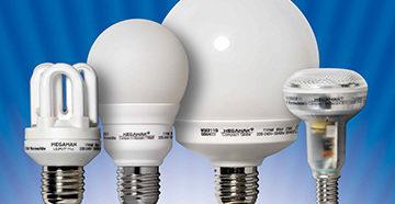 различные виды энергосберегающих ламп