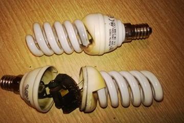 некачественная лампа
