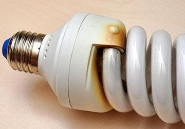лампа перегорела