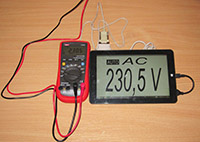 мультиметр подключен к планшету