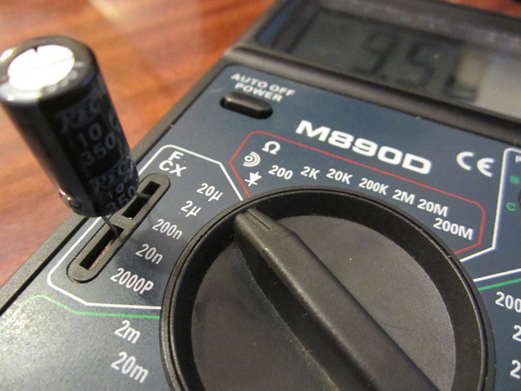 схема проверки мультиметром