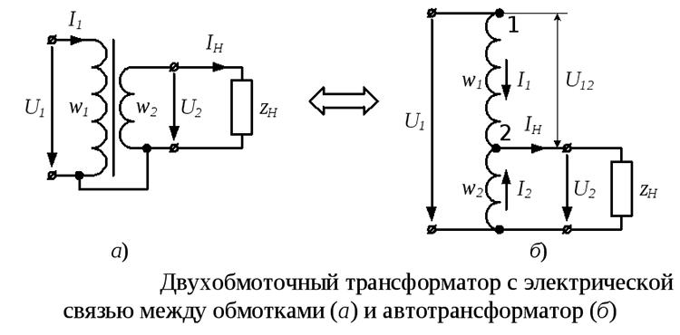 автотрансформатор и трансформатор