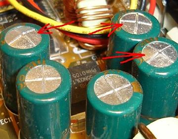 конденсаторы вспухли